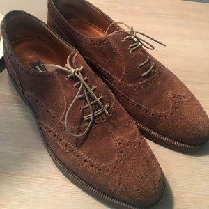 Salvatore Ferragamo men's suede shoes